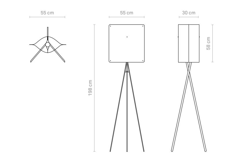 Finomlights®_Square_floor_large_SFL_measurements