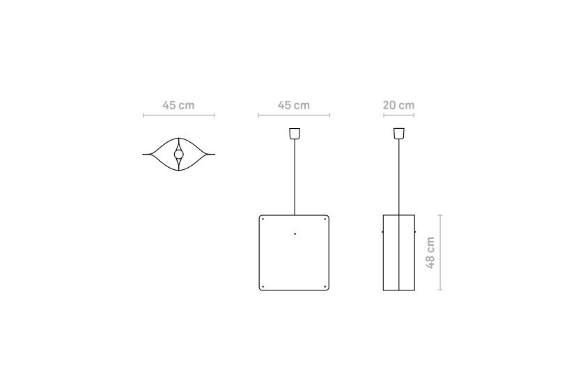 Finomlights®_Square_pendant_small_SPS_measurements